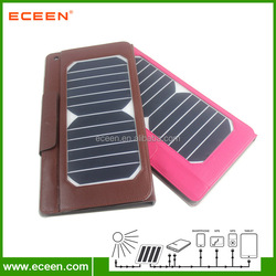 Leather solar ipad case, 7watts solar tablet bag with 5000mah battery inside solar case for ipad