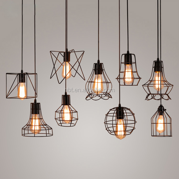 New design Bird cage shape Industrial Iron Pendant Light for decoration