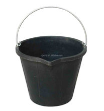 Black Recycled Tyre rubber buckets for building