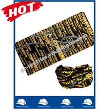 small MOQ polyester multifunctional bandana with fashion solid color sublimation printing logo china supplier alibaba