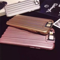 2016 luxury travel luggage case for iphone 6 6s 4.7/5.5 with hold stand,suitcase cell phone case