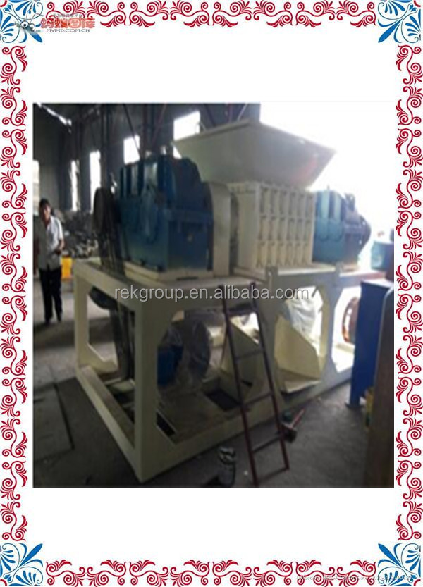 Programmable High efficiency waste cable wires shredding machine/PET bottle shredder for sale with CE approved