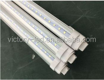 20pcs/ lot 6500k Aluminium Body Clear Cover 44w 8ft R17D led tube light free shipping to USA via <strong>Fedex</strong>