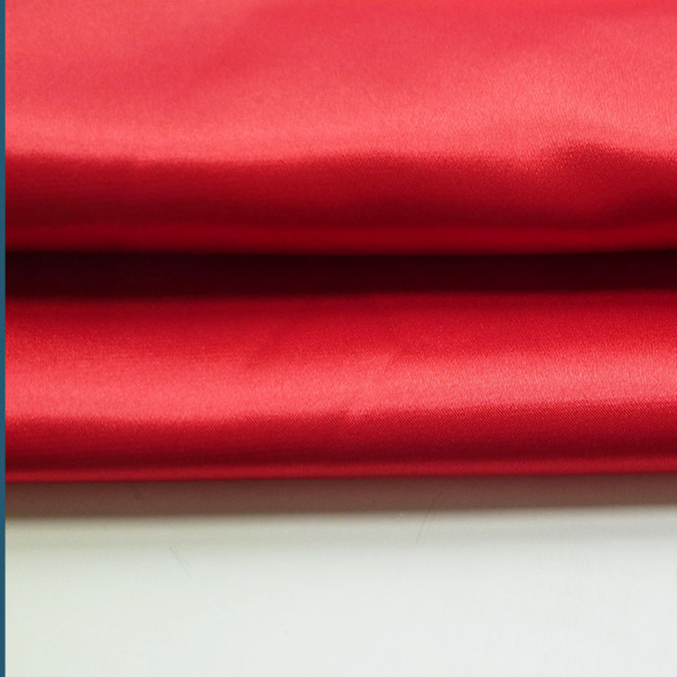 Shaoxing textile hot sale 75D glazed polyester satin fabric,satin