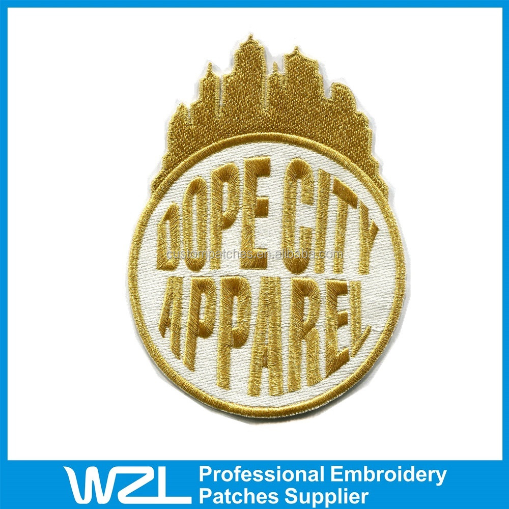 Customized Embroidered Patches embroidery for garments design