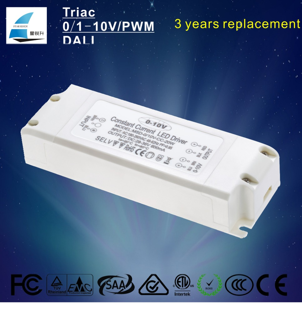 Shenzhen factory 18w 240ma constant current power supply 0-10v dimming led driver, dimmable LED driver