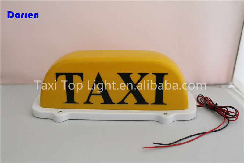 Car Top Magnetic Taxi Yellow Light