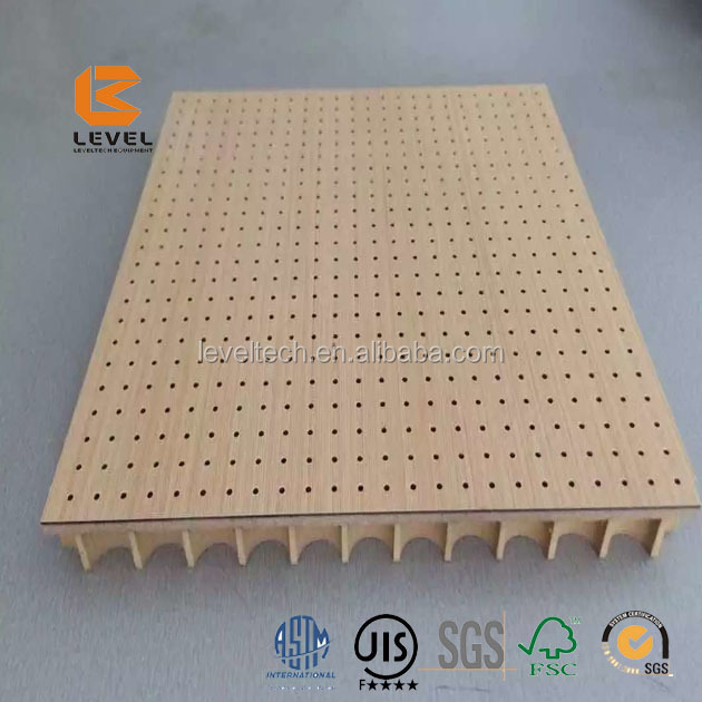 Sound Absorbing Micro Perforated Veneer MDF Timber Wooden Acoustic Panels Hole Diamteter 0.8mm