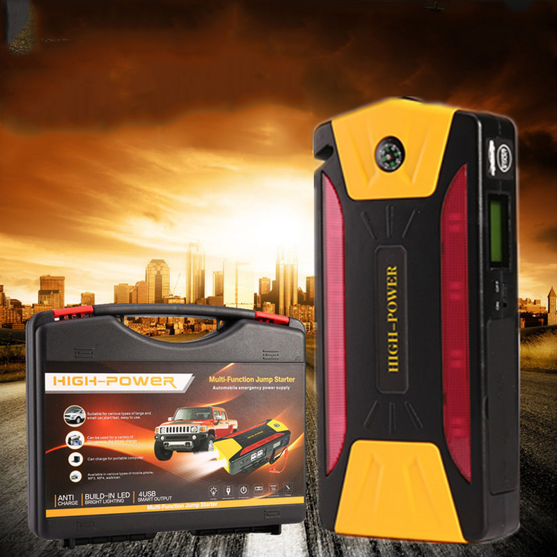 4USB Jump Starter 12V Vehicle Mounted Multifunctional Power Supply With Compass