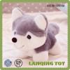 Promotion Lifelike Grey Toy Plush Stuffed Dog