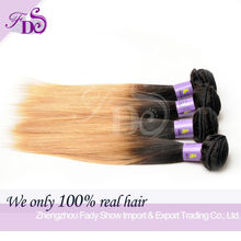 Distributors wanted premiun quality #1b/27 straight hair ombre light brown weave hair