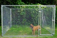 hot-dipped galvanized outdoor chain link large dog kennel
