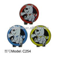 With the polar bear design golf ball marker cap clip C254 most fashionable cap clips in Asia market