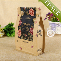Customized Resealable Kraft Paper Square Bottom