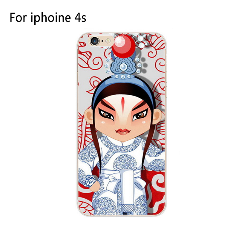 2017 High quality new arrival TPU case Peking Opera Mask cell phone case for iphone4/4s cover