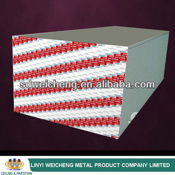 1200x2400x9.5mm Competitive Price gypsum ceiling board , partition system drywall 9.5mm gypsum board