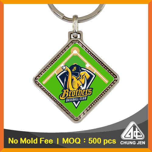 Promotional Baseball Field Key Chain with Logo for Corporate Beer Giveaways