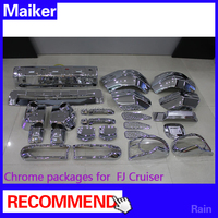 ABS Chrome kits chrome packages 12 pcs for Toyota FJ Cruiser 2007+ pickup 4x4 accessories