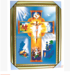 Religion Jesus 3D painting 3D effect picture with frame