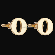 Mens Jewelry Brass Mens Cuff Links Initial Alphabet O Letter brass cufflink
