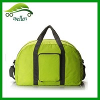 2015 high quality nylon Folding Portable plain Waterproof Duffel Bags