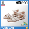 Hobibear latest summer girl sandal high quality flower children flat sandals