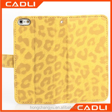 Leopard Leather Flip Card Holder Leather phone Cover case for iPhone 5s
