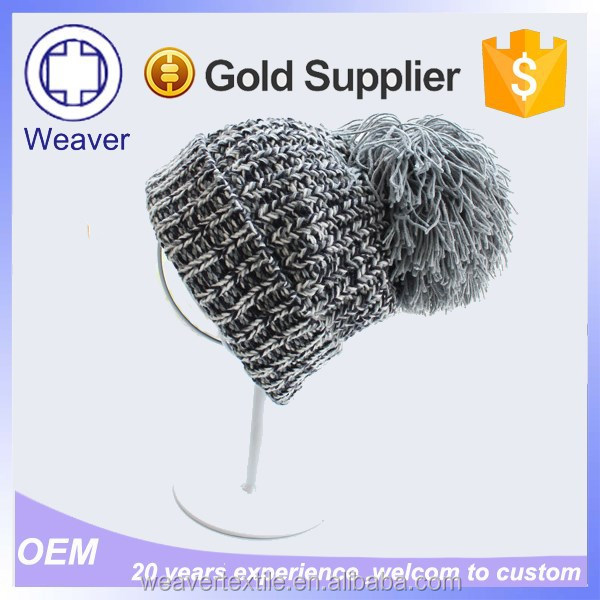 Wholesale Cheap Handmade Crochet Baby Long Wool Beanie Hat / Free Slouchy Beanie Knitting Pattern