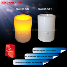 hot sale 3inch diameter plastic led candle