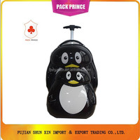 Penguin print ABS PC trolley luggage bag China Supplier