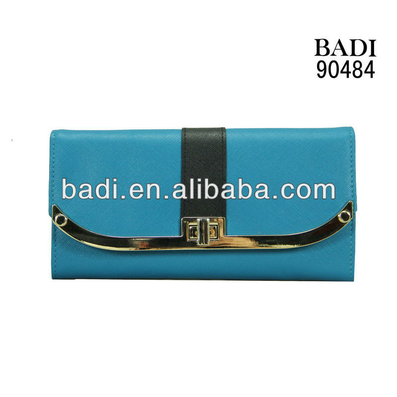 2013 latest hot selling newest design genuine leather lady purses or wallets and clutches