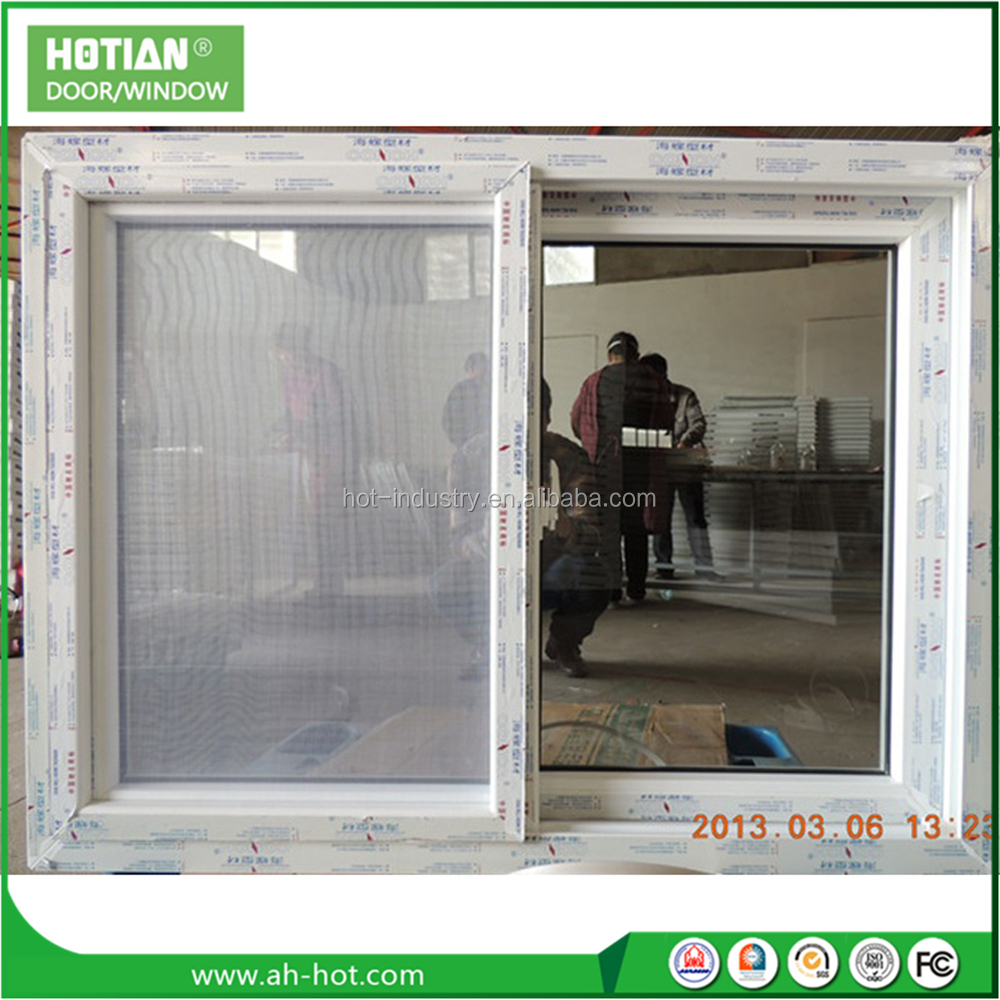 Pvc Window Profile Scrap Australia standard PVC Double Glazed Tempered Glass Sliding Window