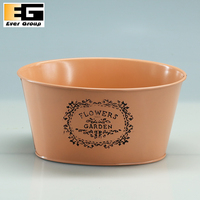Orange Oval Shape Flower Planter For
