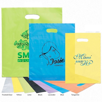 Custom Printed Logo Printing Pe Cheap Die Cut Patch Handle Biodegradable Shopping Plastic Bag