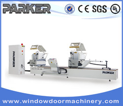 PVC profile CNC Control Double Mitre Cutting Saw/multi blade cutting saw machines for pvc/upvc window door frame cutting machine