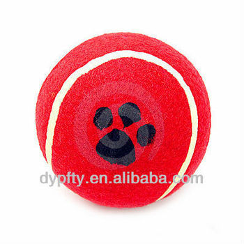 dog trainning red tennis ball 4""