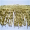 Manufacturers selling home textile lace curtain accessories 7 cm gold polyester Bullion Fringe