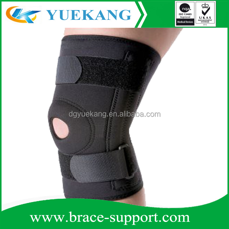 Adjustable Neoprene Knee Support with Basic Open Patella Kneecap Brace and Spring Steel Side Stays