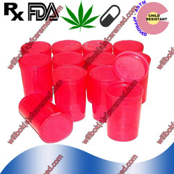 Pink RX Herb Hinged-lid Plastic Medical pop top container