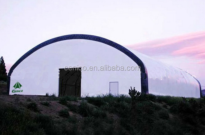 Farming Fabric Storage Building , Warehouse Tent , Aircraft Hangar. Tension Fabric Building structure
