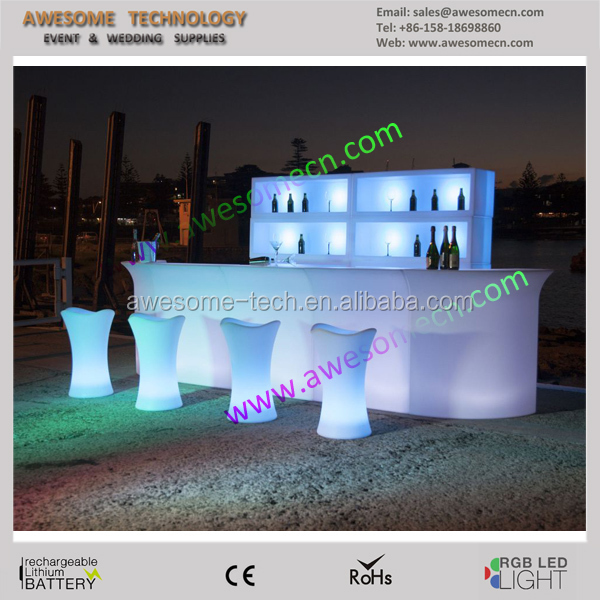 Plastic molded led bar furniture mobile bar counters design