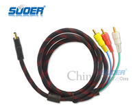 Suoer 1.5M HDM i to 3 RCA Cable HD to RCA Cable