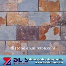 Natural multicolor slate tile