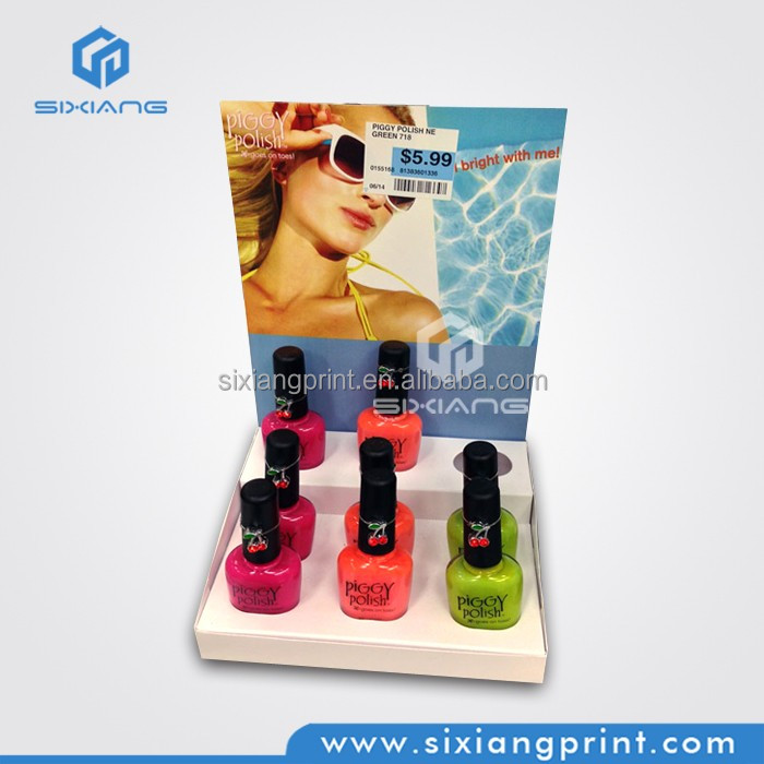 Custom Nail Polish Showcase Wall Display Nail Polish Trade Show Displays
