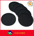 Minimalism style black color vintage coaster round silicone drink coaster set