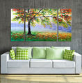 Abstract wall painting decoration on canvas
