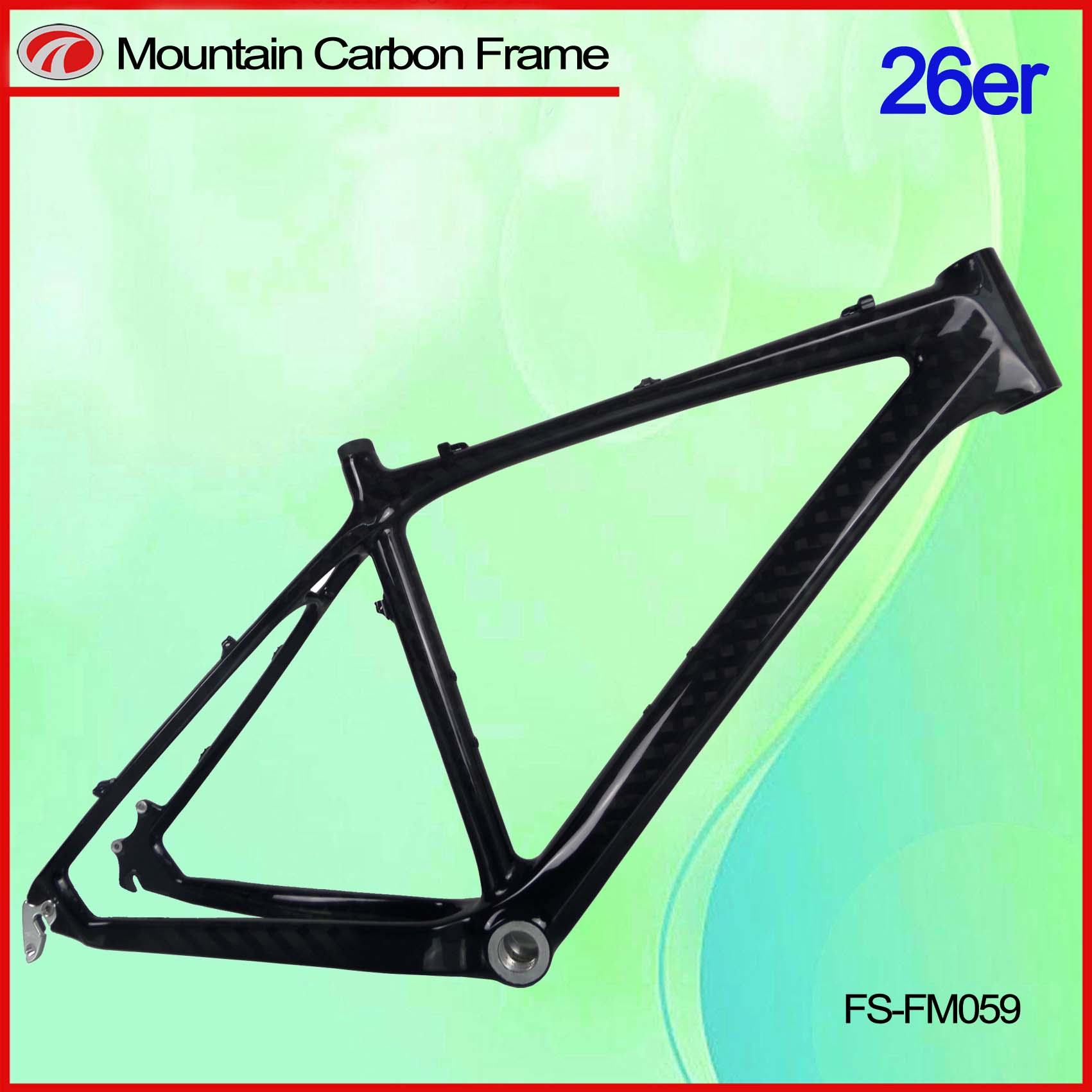 FM059 26er carbon mountain bike frame full carbon MTB frame 26