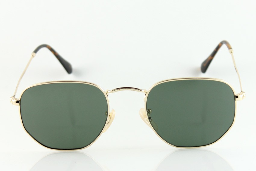 New Fashion Square Metal Sunglasses Mens/Womens Brand 3548N Gold Sunglasses Designer Sunglasses Green Lens 51mm Box