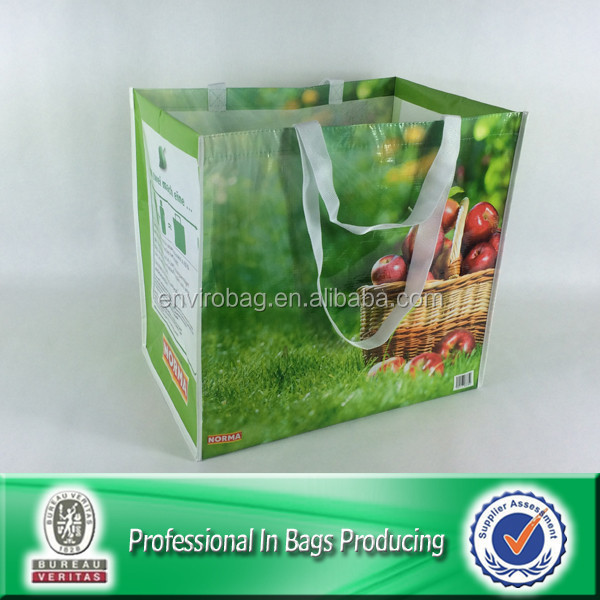 Lead free Recycled Bottle Fabric Reusable NORMA Supermarket Fruit Shopping Bag