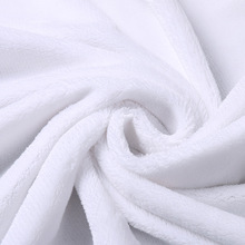 Soft white 100% polyester micro fleece flannel fabric for home textile